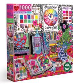 eeBoo 1000pc-Puzzle: Artist Studio