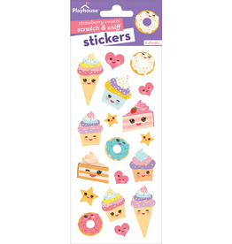 Paper House Kawaii, Strawberry Scratch & Sniff Stickers