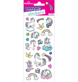 Paper House Unicorn, Whipped Cream Scratch & Sniff Stickers