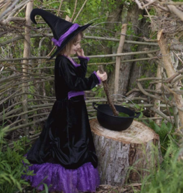 Creative Education Vera the Velvet Witch Dress Hat, Blk/Purple, size 3-4