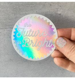Rock Paper Scissors Sticker: The Future Is Bright
