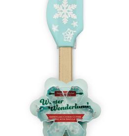Handstand Kitchen Winter Wonderland Snowflake Cookie Cutter Set with Spatula