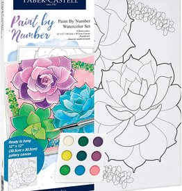 Faber-Castell Watercolor Paint by Number: Succulents