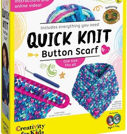 Faber-Castell Quick Knit Button Scarf