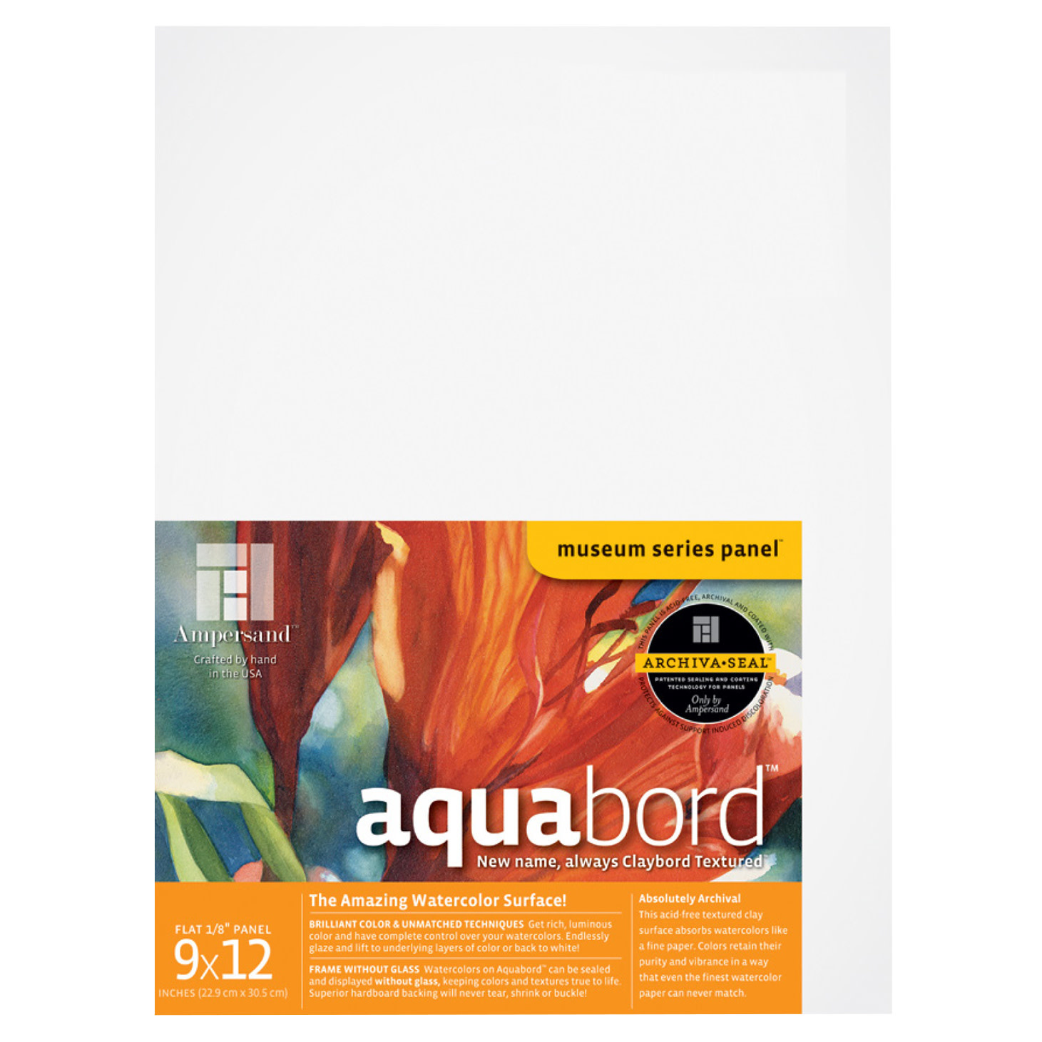 Ampersand Art Hardbord Uncradled 1//8 Profile 12 x 12
