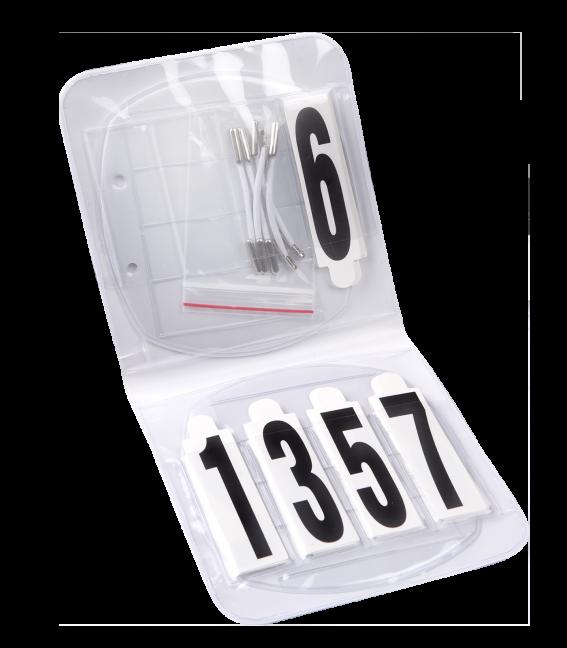 Kopfnummern set oval