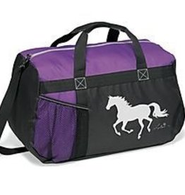 AWST Duffle bag, purple with Lila galloping