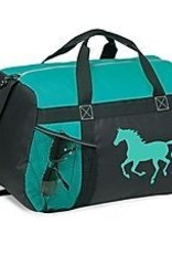 AWST Duffle bag, Turq with Lila galloping