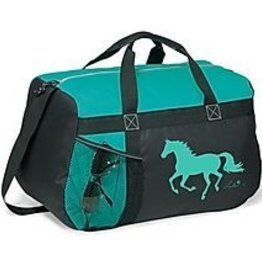 AWST Duffle bag, Turq with Lila galloping