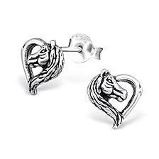 Horse Heart Earrings