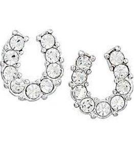 Earrings Rhinestone horseshoe w/ HH gift box