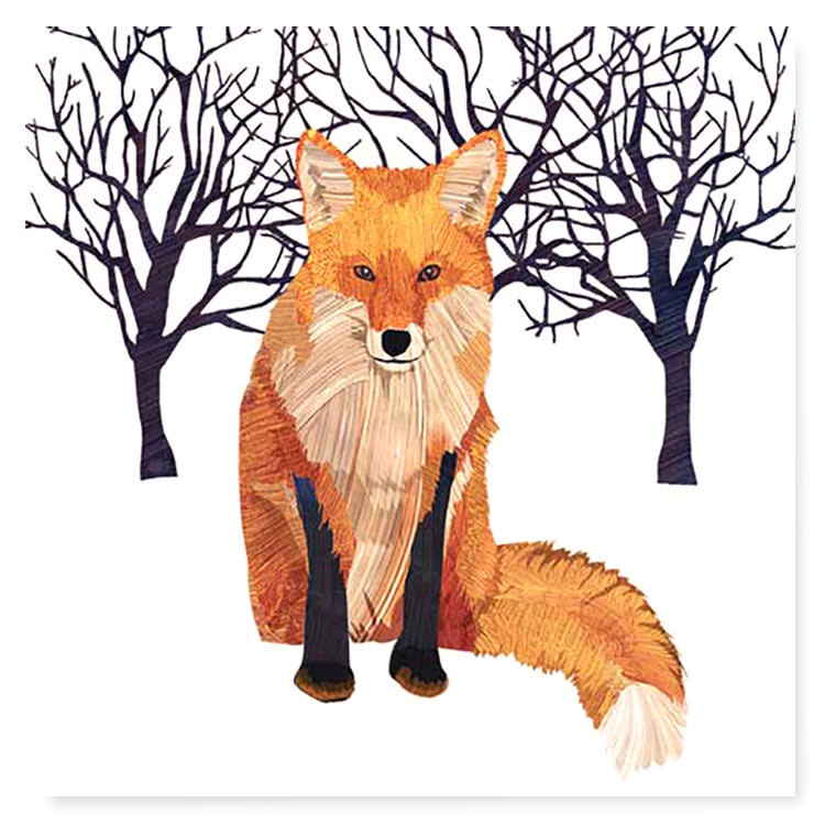 Winter Fox Coctail Napkins