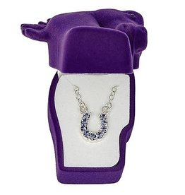 necklace, rhinestone purple