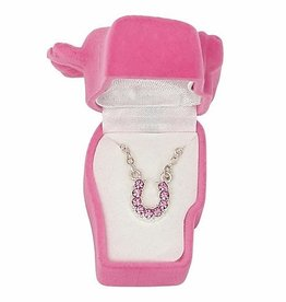 AWST Horseshoe necklace, pink