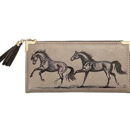 AWST Wallet, Lila horse printing inside and out