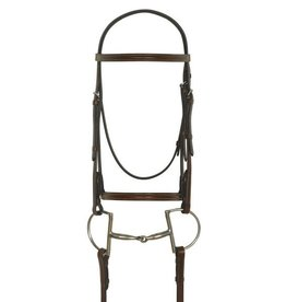 CAMELOT Camelot Gold™ Plain Raised Bridle with Laced Reins