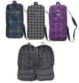 CENTAUR Plaid Lined Padd Bridle Bag Blackwatch Plaid 28Lx14Wx4D