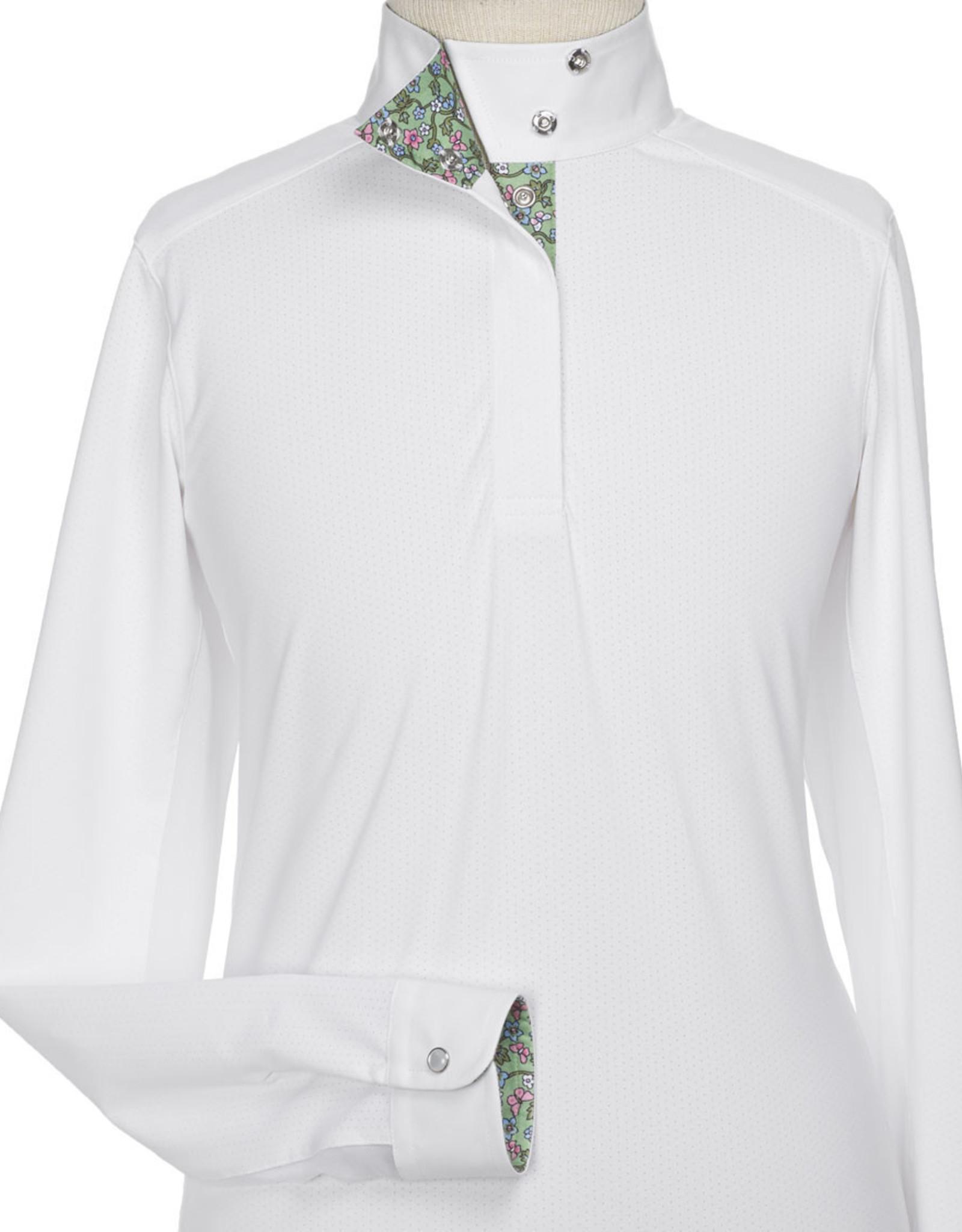 "Essex Beacon Hill Girls Talent Yarn ""Mariposa"" Wrap Collar Show Shirt"