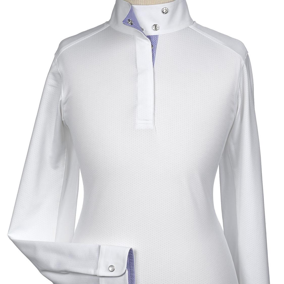 "Essex Beacon Hill Girls Talent Yarn ""Halston"" Wrap Collar Show Shirt"