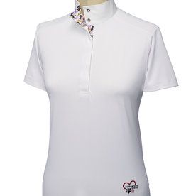 "Essex Essex ""Danny & Ron's Rescue"" Ladies Talent Yarn Straight Collar Short Sleeve Shirt"