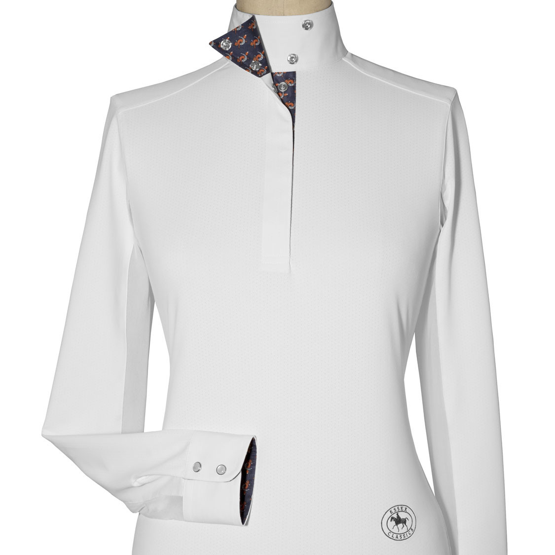 "Essex Essex ""Fox"" Ladies Talent Yarn Wrap Collar Show Shirt"