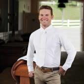 ROMFH MEN Competitor LS Show Shirt White