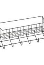 EQUIESSENT Wire 6-Hook Tack Rack w/Basket Black One Size