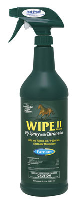Wipe II fly spray with citronella