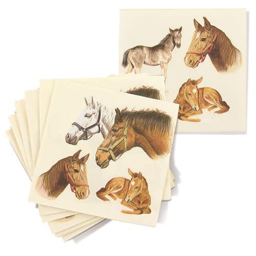 Lunch Napkin Equestrian Family