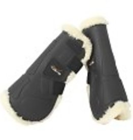 Tekna Tekna® Sheep-Tek™ Sheepskin Open Front Jumping Boots with Quik-Close™ Straps, Full