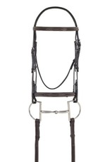 OVSELLERIE OV Elite Comfort Crown RSD Fancy Stitch Pad Bridle Dark Brown Horse