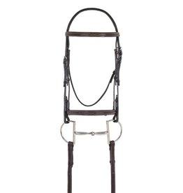 OVSELLERIE OV Elite Comfort Crown RSD Fancy Stitch Pad Bridle Dark Brown Horse