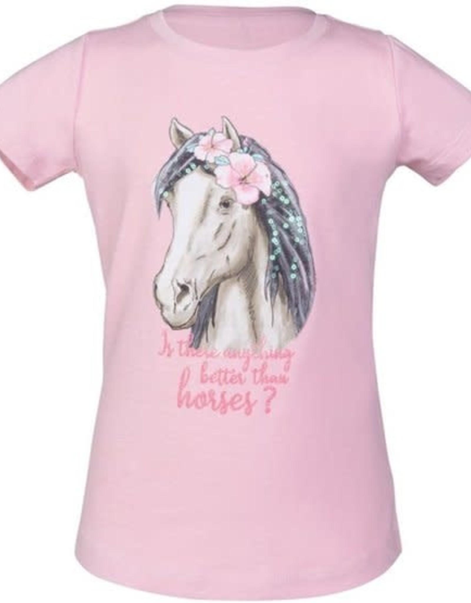 HKM T-Shirt Soft Pink Horse