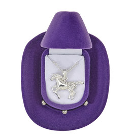 AWST Necklace, Clear Galloping Horse