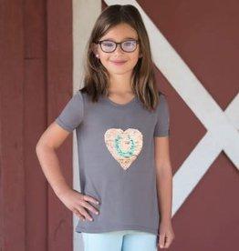 Irideon Kids Flip Sequin Heart Tee