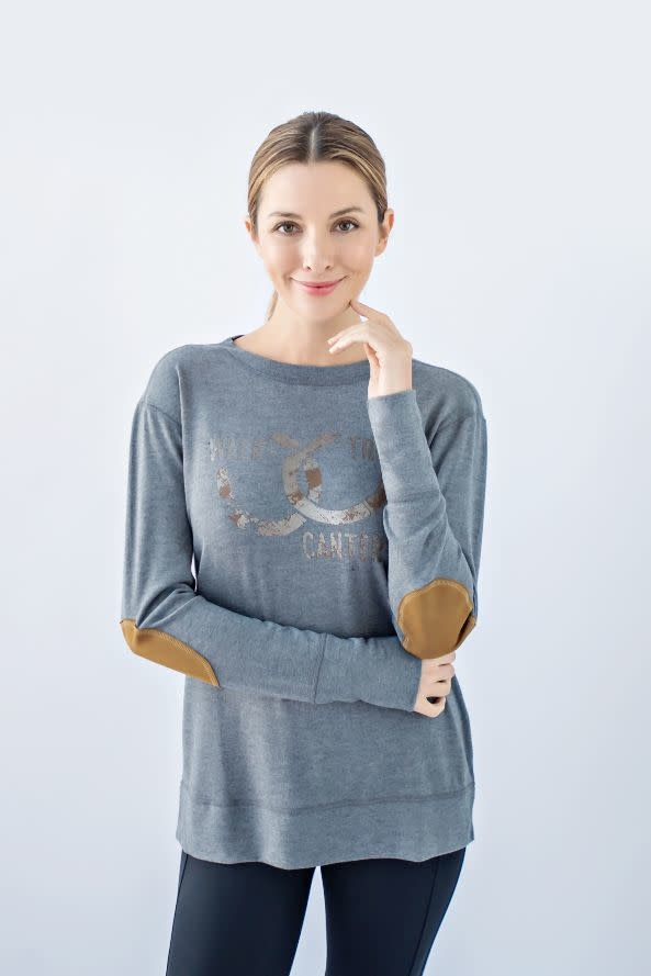 Chestnut Bay Rider Lounge Sweater, Lucky Shoes