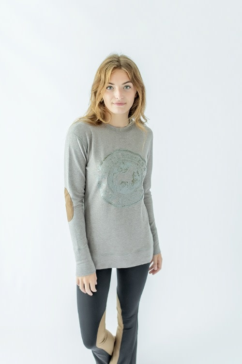 Chestnut Bay Chestnut Bay Rider Lounge Sweater, Vintage Stamp
