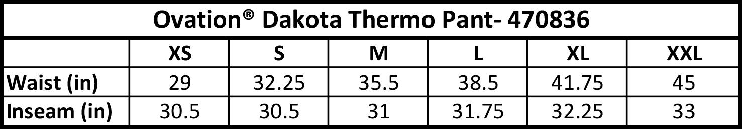 OVATION Ovation® Dakota Thermo Pant