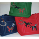 Ox Bow Decore Equestrian Tartan Canvas Tote Bag with Horse Shoe