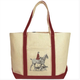 Ox Bow Decor Ox Bow Decor Horse and Hounds Equestrian Canvas Tote Bag