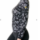 Kastel Kastel Denmark Long Sleeve Black and White Floral Chevron