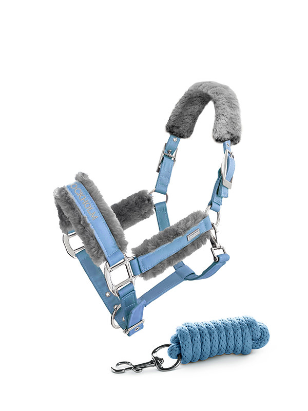 Equestrian Stockholm Fur Halter With Leadrope