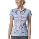 Kastel Kastel Sun Shirt Cap Sleeve 1/4 Zip Lt Blue/Coral