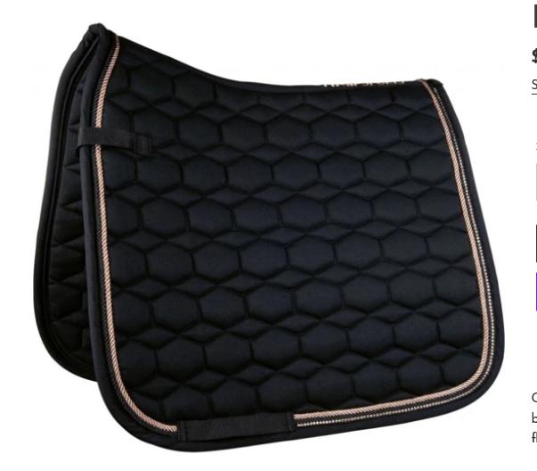 HKM HKM Saddle Pad, Rosegold Glamour, Dressage