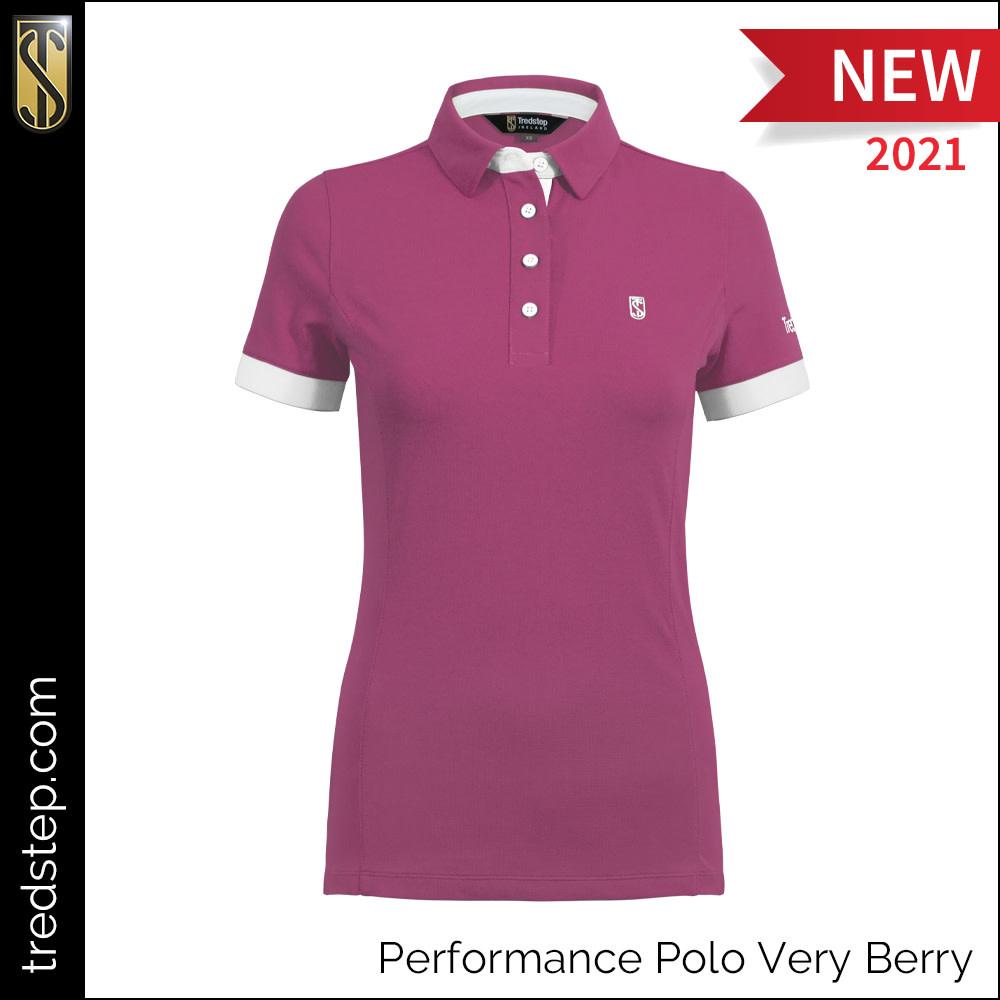 Tredstep Tredstep Ladies Perfomance Polo, Very Berry