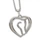 AWST Necklace, Horse Head Heart, Rhodium