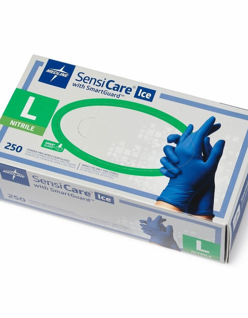 Medline Industries SensiCare Ice W/ SmartGuard Nitrile Gloves