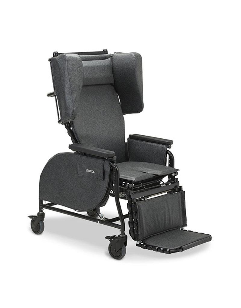 Broda Seating Midline Tilt Recliner Black/Charcoal 20