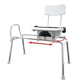 Sliding Transfer Bench With Commode