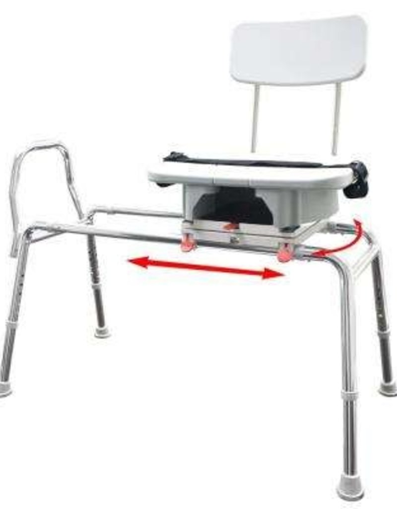 Sliding Transfer Bench With Hygiene Cutout